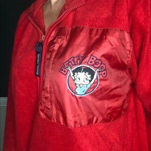 Vintage y2k Betty Boop fleece pull over
